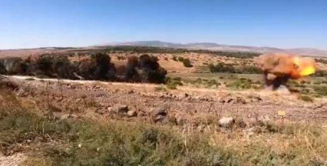 צפו: פיצוץ שרשרת של מוקשים סורים ברמת הגולן