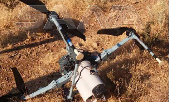 """סוריה: """"רחפן חמוש הופל סמוך לגבול עם ישראל"""""""