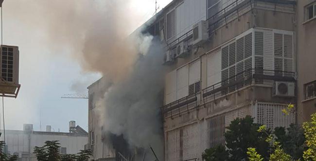 שריפה בנתניה: גבר במצב בינוני נכווה בכל הגוף