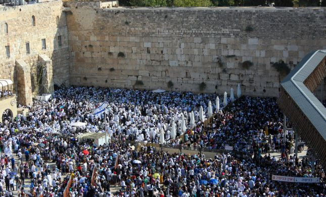 תיעוד מרשים: מאות אלפים בברכת כהנים בכותל המערבי