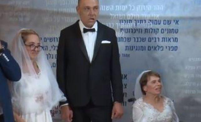 הרגע המאושר: ארבע זוגות עם מוגבלויות בחתונה אחת