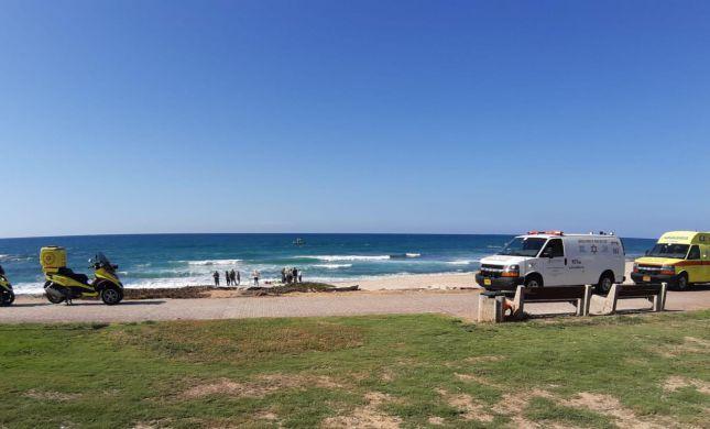 לאחר מאמצי החייאה: נקבע מותו של האדם שטבע בחוף פלמחים