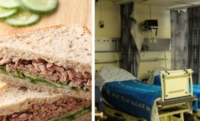 אכל כריך טונה בתל אביב ופונה לבית החולים