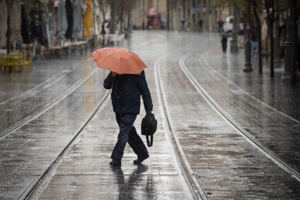 מזג האוויר הפתיע: גשם ירד בדרום, במרכז ובירושלים
