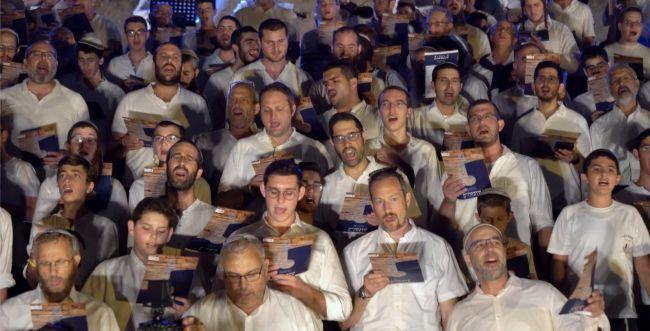 קאמבק היסטורי: 500 לויים חידשו את השירה בירושלים