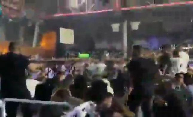 תיעוד מבאר שבע: מאות מבלים תפסו מחסה במועדון