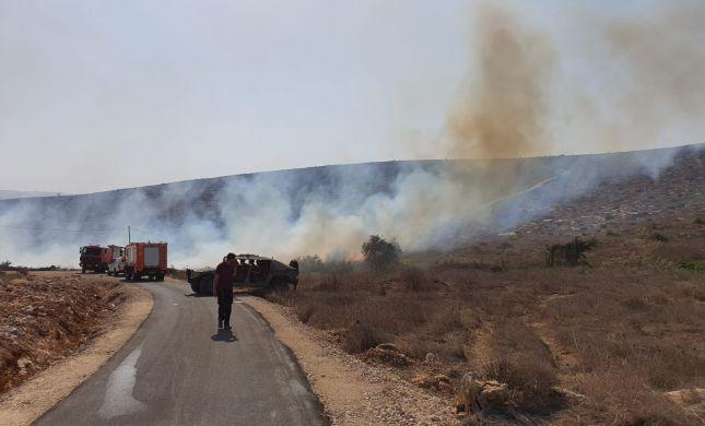 שריפה בסמוך לבית חגי; החל פינוי תושבים מקו האש