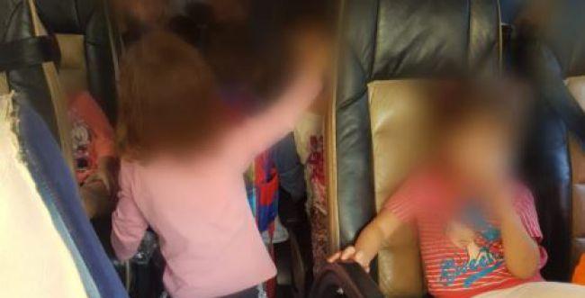 תיעוד • השוטרים לא האמינו: 28 ילדים ברכב