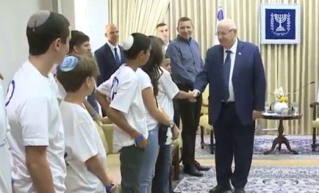 """צפו: בר ובת מצווה ליתומי ויתומות צה""""ל בבית הנשיא"""