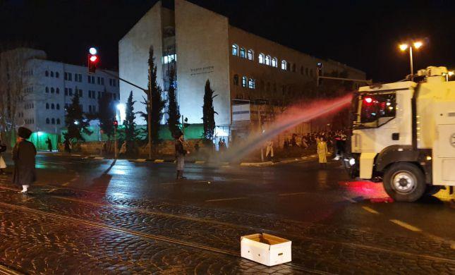 מחאה בשבת: עימותים אלימים בין חרדים למשטרה