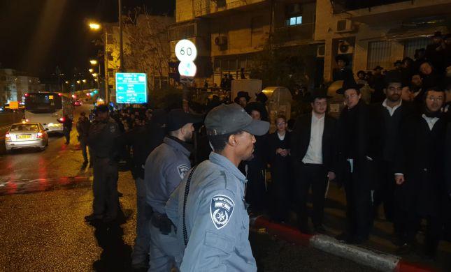 ירושלים: חרדים קיצוניים ניסו לחסום כבישים, 6 נעצרו