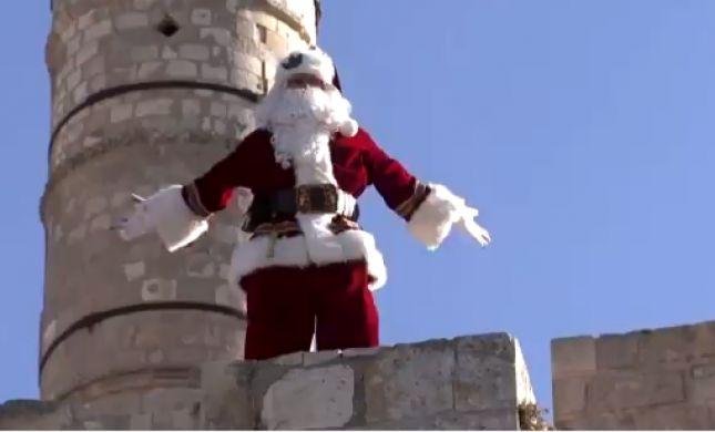 צפו: מה סנטה קלאוס עושה על חומות ירושלים?