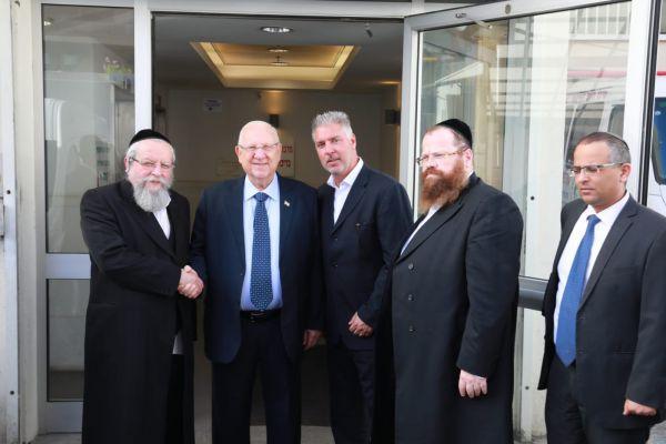 """""""זכות גדולה"""": ריבלין ביקר במרכז השיקום של הרב פירר"""