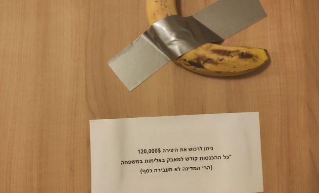 הבננה ששווה 120 אלף דולר- הגיעה לכנסת ישראל
