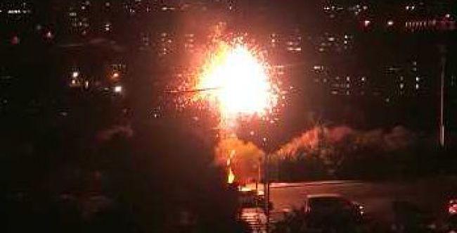 צפו: פיצוץ שנאי גרם להפסקת חשמל בחיפה