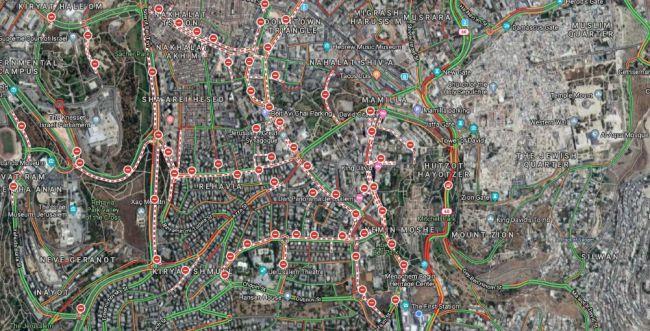גוגל מציגה: אלו כל הכבישים שנסגרים בירושלים