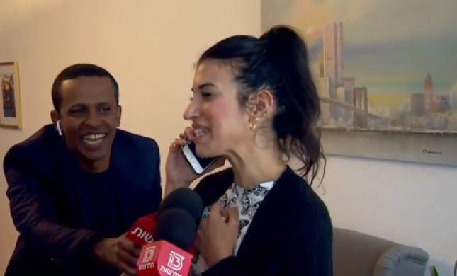 צפו: שיחת הטלפון המרגשת של נעמה יששכר עם אחותה