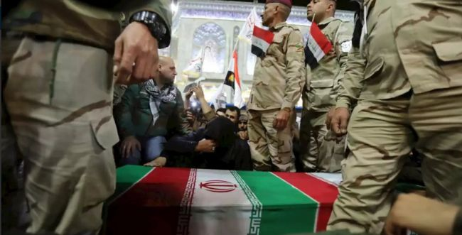 ארון עטוף בדגל: גופתו של סולימאני הובאה לאיראן