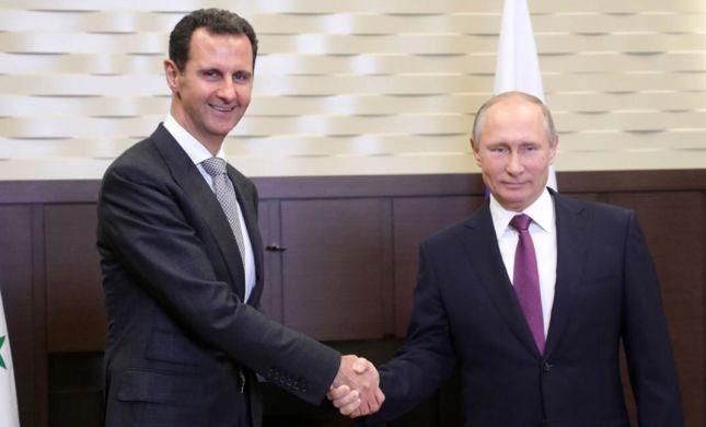 פוטין הגיע לביקור פתע בסוריה ונפגש עם אסד