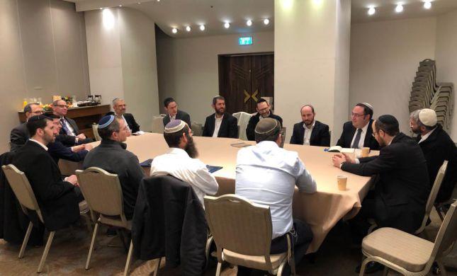 מפגש פסגה נדיר בין רבני קהילות ישראלים ואמריקאים