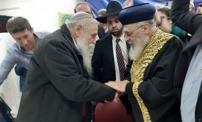 לאחר הסערה: הרב יצחק יוסף שיבח את הרב דרוקמן