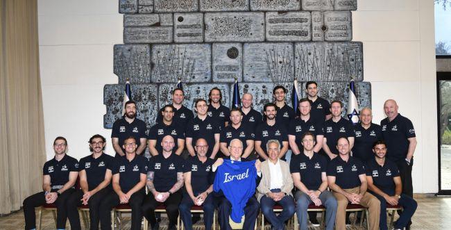 נשיא המדינה נפגש עם נבחרת הבייסבול הישראלית