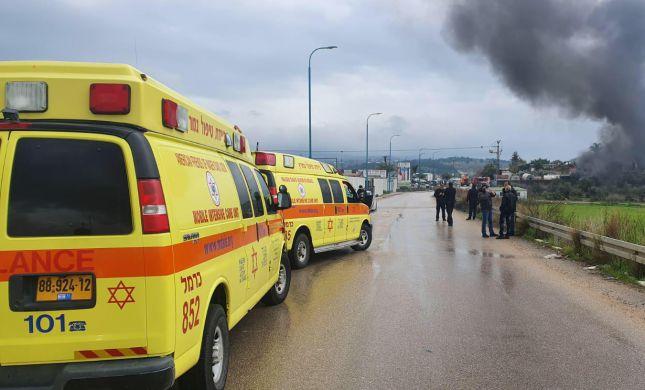 פיצוץ במפעל בטמרה, 4 פצועים במקום: צפו בתיעוד