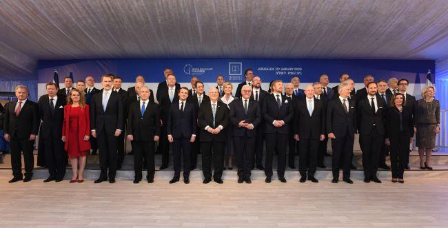 עם 46 מנהיגי העולם: פורום השואה נפתח בבית הנשיא