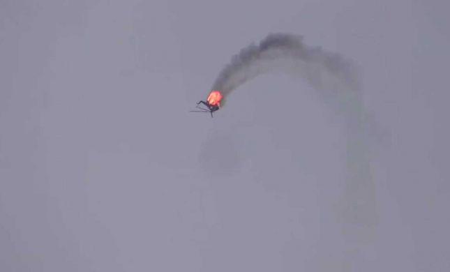 צפו: המורדים הסורים הפילו מסוק של צבא אסד