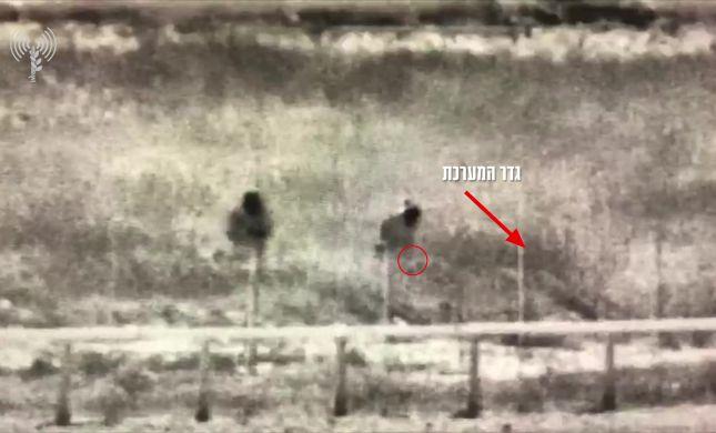 צפו: כך הניחו המחבלים את המטען בגבול עזה