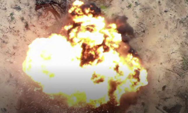 מפחיד: תיעוד נדיר של פיצוץ בלוני נפץ. צפו
