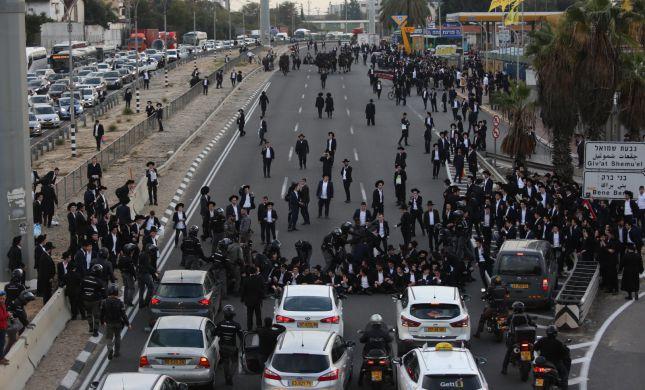 18 עצורים: הפלג החליט לסיים את ההפגנה בבני ברק