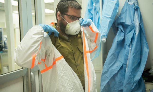 """צה""""ל פתח בבסיס הרבנות מעבדה לבדיקת קורונה"""