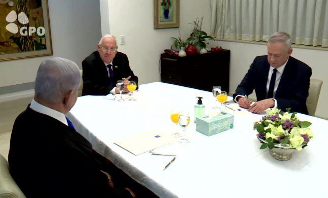 נתניהו וגנץ שוחחו על הקמת ממשלת חירום