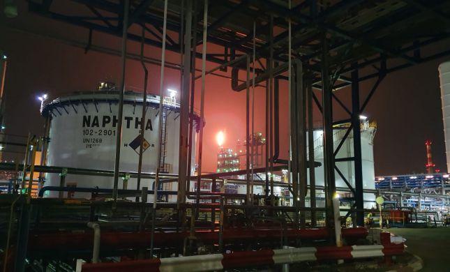 בעקבות תקלה בבתי זיקוק: לפיד אש ענק במפרץ חיפה