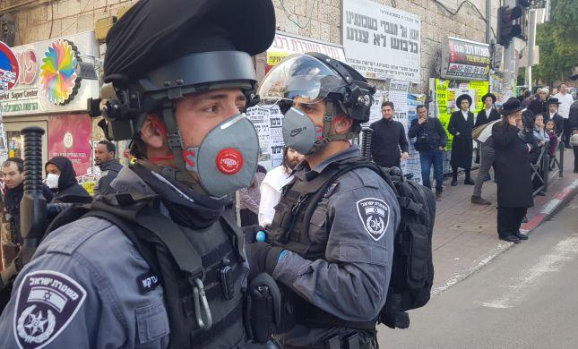 עימות בשכונת מאה שערים בעת אכיפת צו הקורונה
