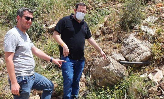 """ראש מועצת שומרון תפס את הפלסטינים """"על חם"""""""