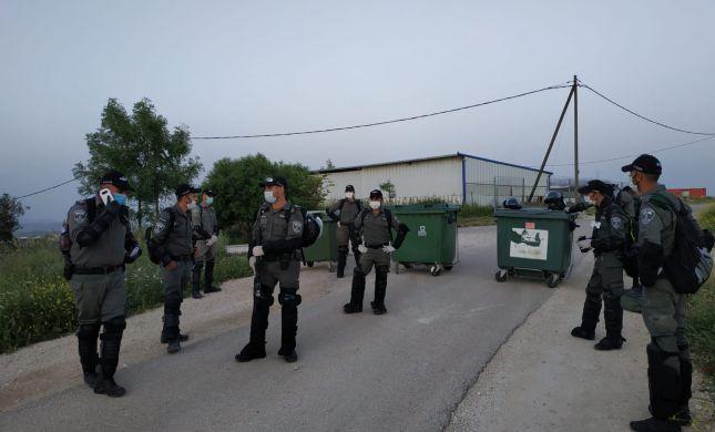 """כוחות הביטחון הורסים מבנים בגבעת """"קומי אורי"""""""