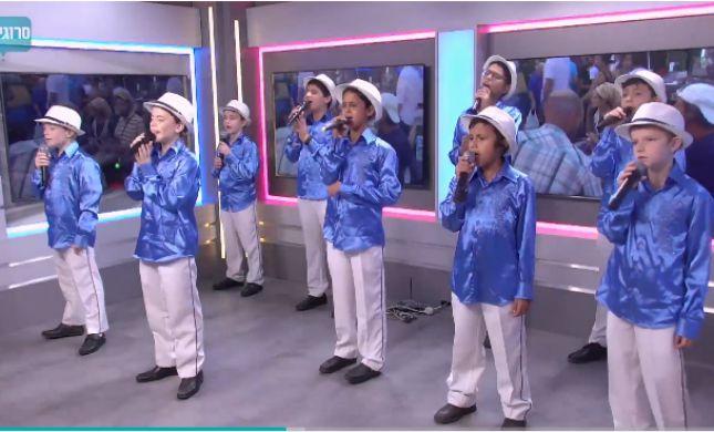 ריקודגלים באולפן: פרחי ירושלים בהופעה חגיגית.צפו