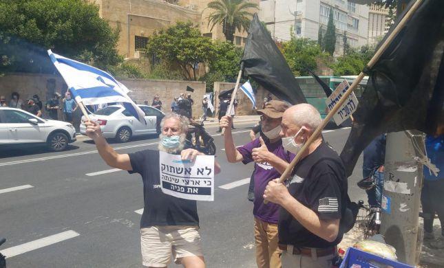 מחאת השמאל נגד נתניהו מול בית ראש הממשלה