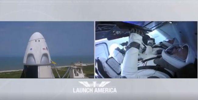צפו: השיגור הפרטי הראשון של אסטרונאוטים לחלל