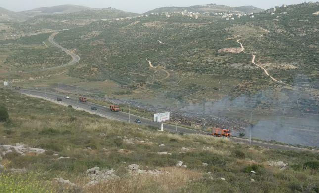 שריפה סמוך לנופי נחמיה: האש מתקדמת במהירות