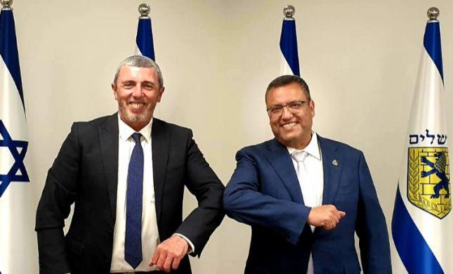 הרב רפי פרץ נפגש עם ראש עיריית ירושלים