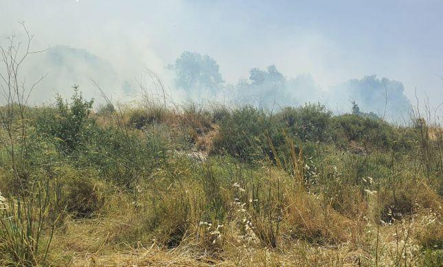 שריפה ענקית ביישוב גבע בנימין;תושבים פונו מבתיהם