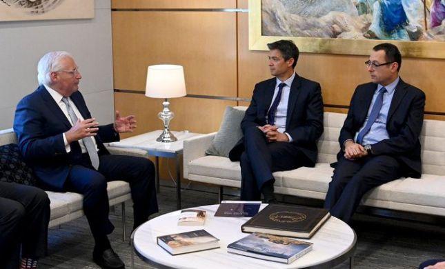 """בדרך לריבונות: הנדל והאוזר נפגשו עם שגריר ארה""""ב"""