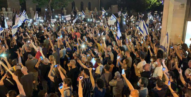 """מאות מוחים על מעצר תא""""ל השכל בהפגנת השמאל"""