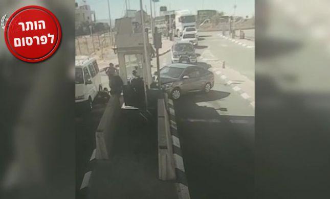 שוחרר התיעוד: המחבל מנסה לדרוס חייל