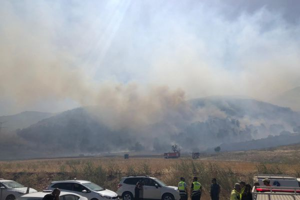 6000 דונם נשרפו; הושגה שליטה על האש