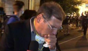 """חדשות טלוויזיה, טלוויזיה ורדיו, מבזקים """"קשה מאוד לנשום"""": כתב חדשות 13 נחנק בשידור.צפו"""