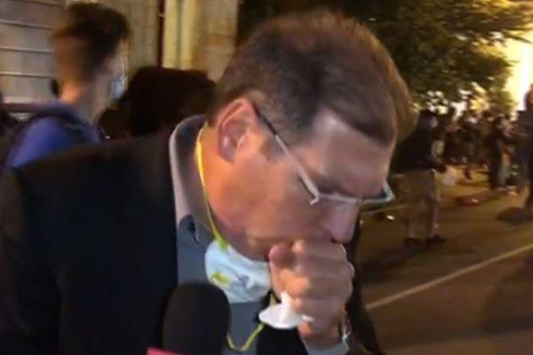 """""""קשה מאוד לנשום"""": כתב חדשות 13 נחנק בשידור.צפו"""